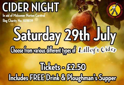 Charity Cider Night