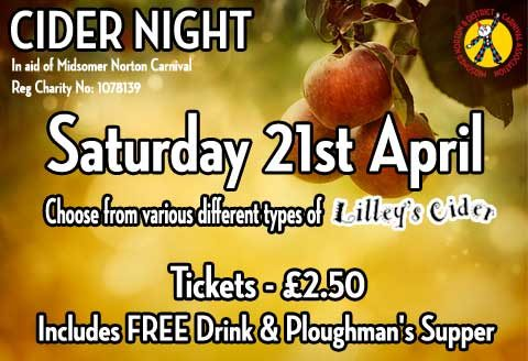 Cider Night..... Its Back!